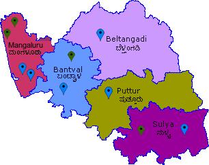 Dakshina Kannada Map DakshinaKannada Taluk Map Dakshina Kannada Map