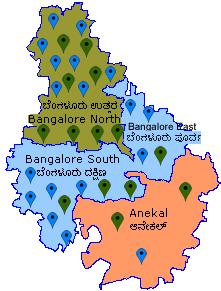 Bangalore North Map Bangalore Rural Taluk Map Bangalore North Map